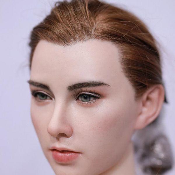 Bruin/roodachtig geïmplementeerd haar ( lang )