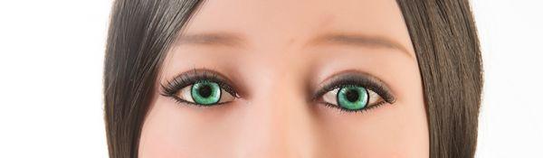 turquoise ogen